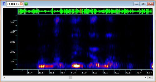 Спектрограмма, на которой видна формантная структура речи