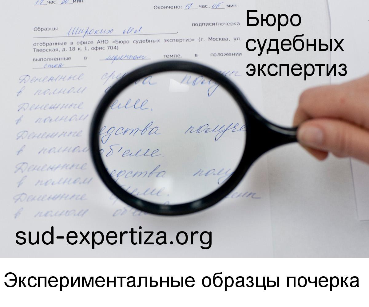 Экспериментальные образцы почерка