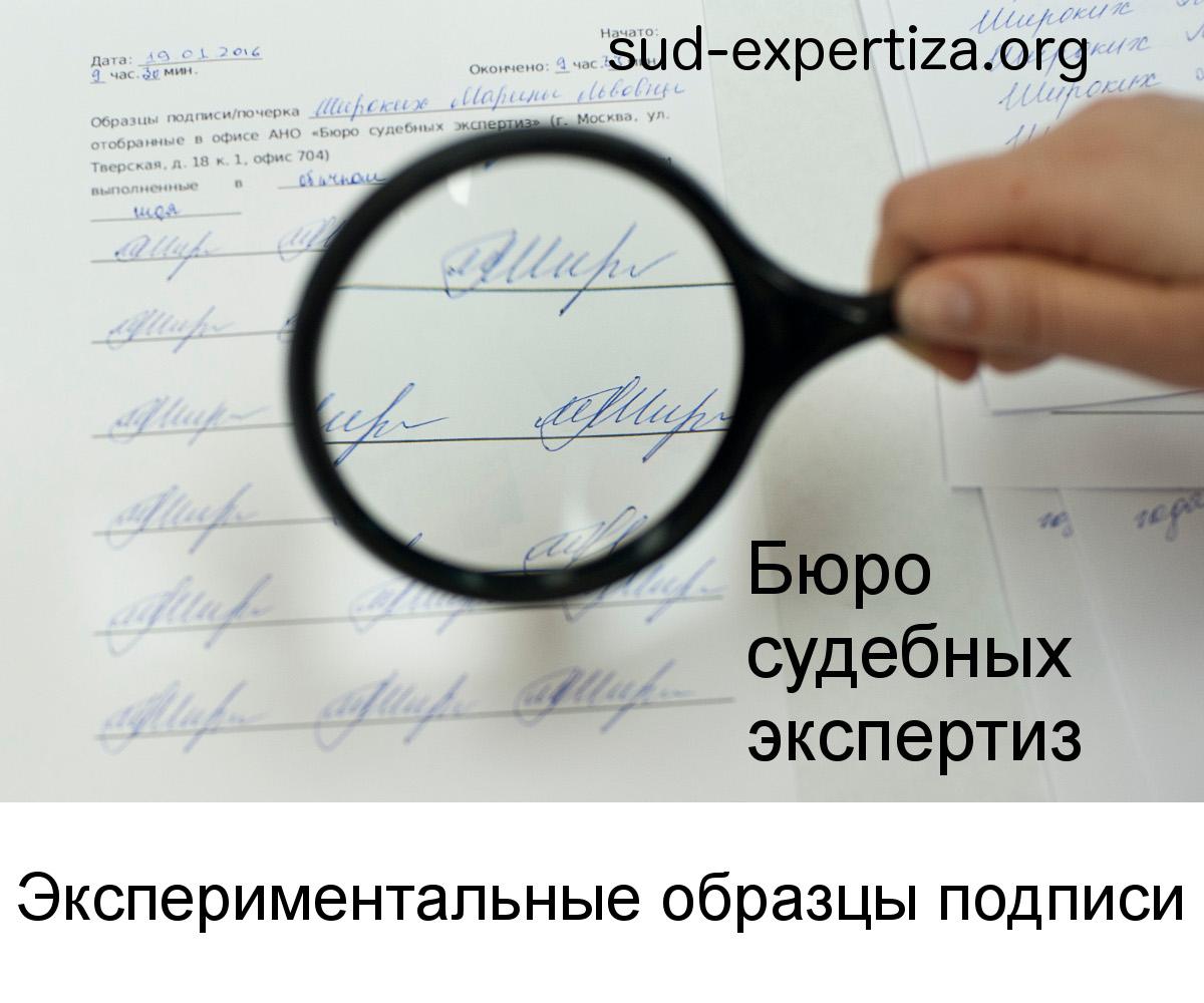 Экспериментальные образцы подписи