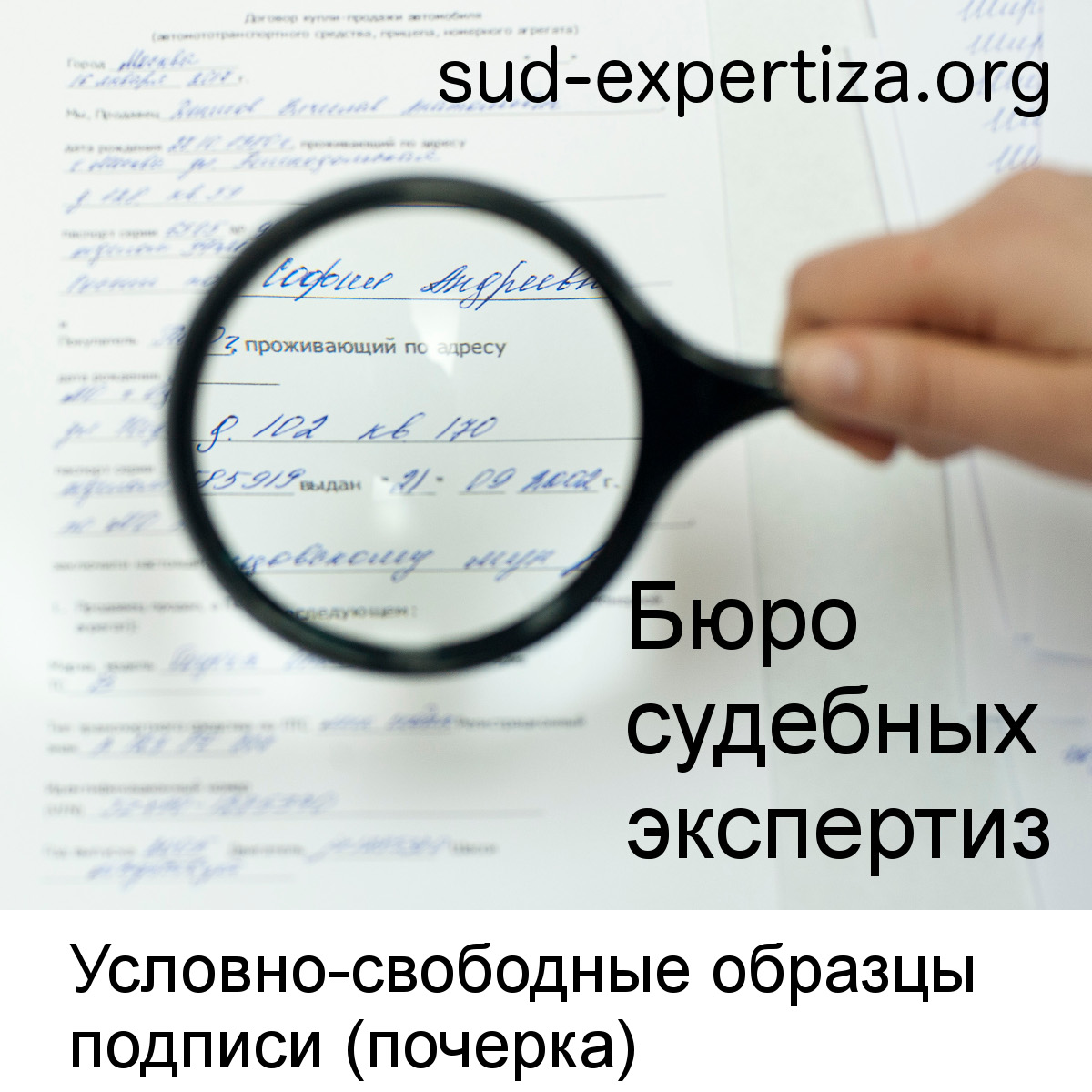 Условно-свободные образцы подписи